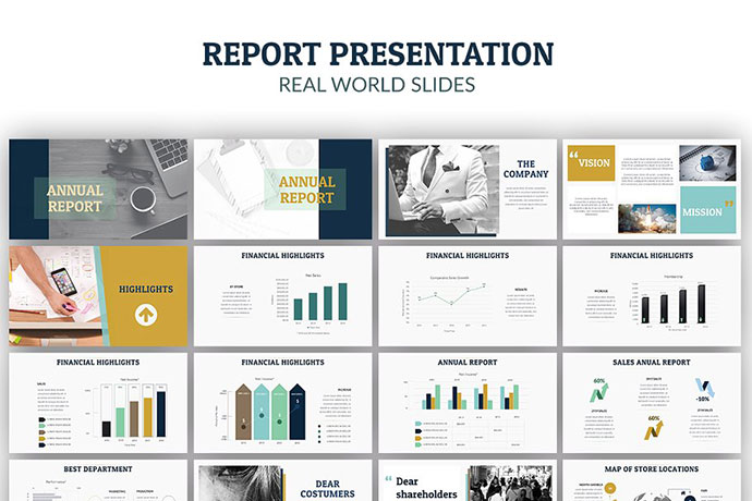 Annual Report Powerpoint + A4 Print