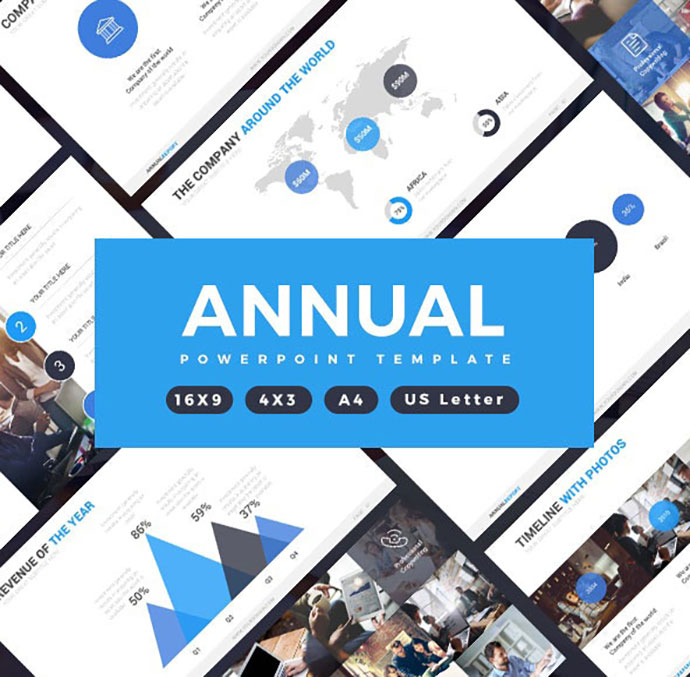 Annual Report Professional Powerpoint Template