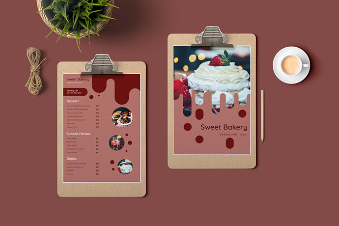 25 Sweetest Cake and Bakery Menu Design Templates - PSD, EPS & AI