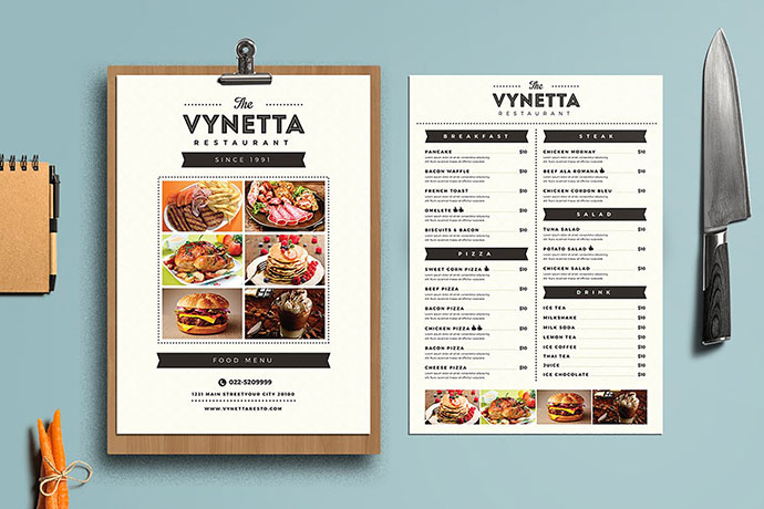 Simple Restaurant Food Menu Package