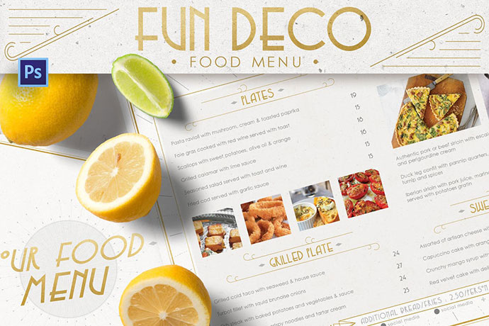 Fun Deco Food Menu