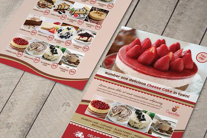 Cake Menu Flyer