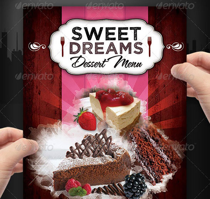 Dessert and sweets Menu Flyer