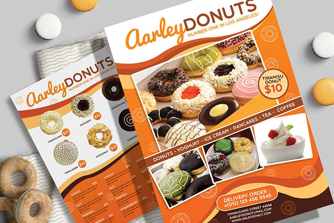 Donuts Menu Flyer