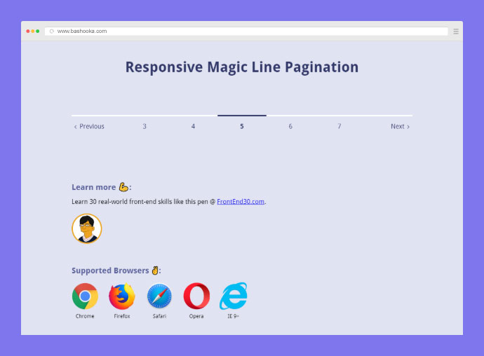 Create a magic line for your pagination. It looks awesome.