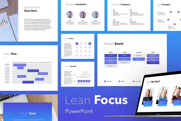 Lean Focus PowerPoint Template