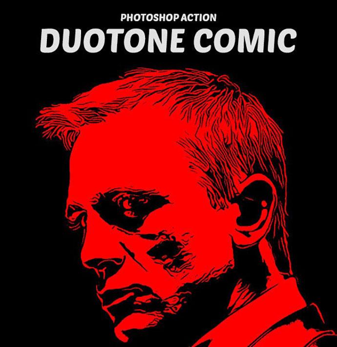 Duotone Comic