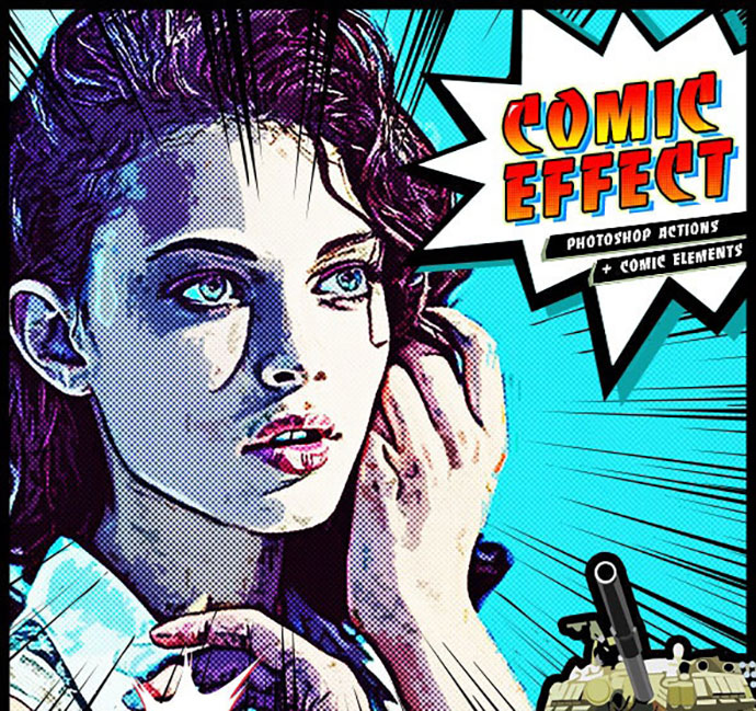 Comic Effect PS Actions