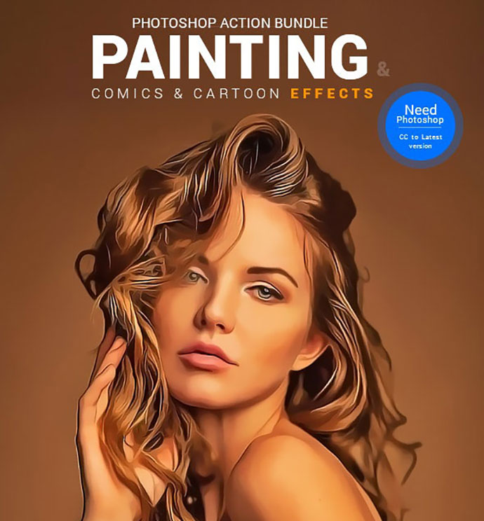 Painting, Comics & Cartoon Actions Bundle
