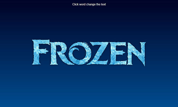 CSS only frozen text effect with background-clip, blend modes and gradient text.