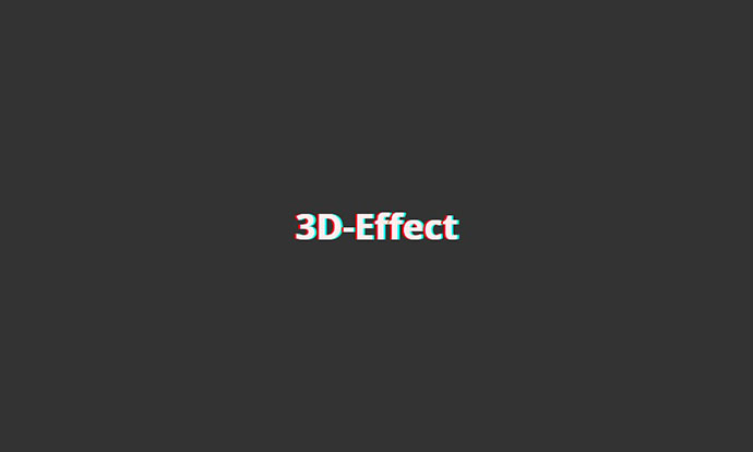 Quick and easy anaglyph 3D font effect