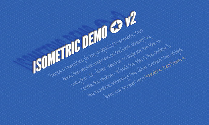 CSS3 Isometric