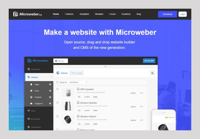 Top Ten Free Drag & Drop HTML Website Builders 2019 – Bashooka