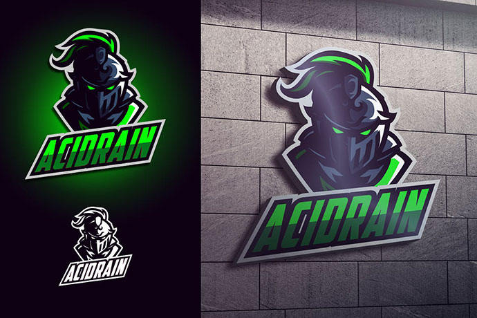 Luminous Knight Mascot Esports Logo