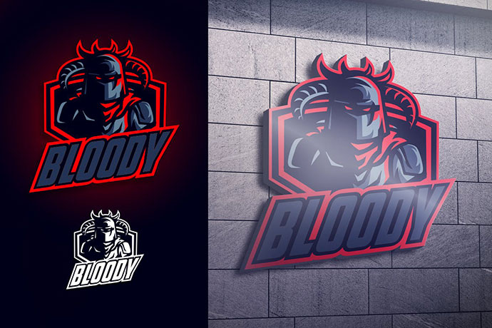 Blood Knight Mascot Esports Logo