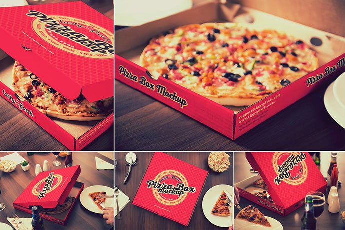Pizza Packaging Mockups