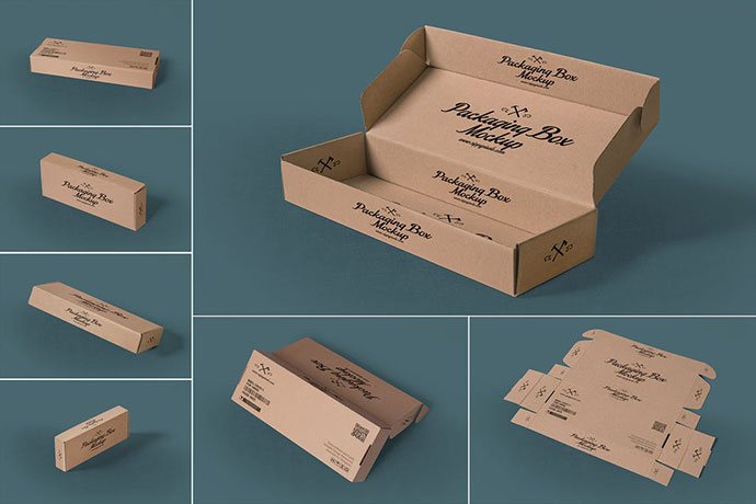 7 Rectangular Packaging Box Mockups