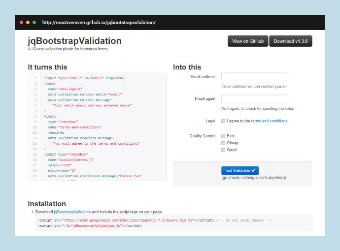 JqBootstrapValidation