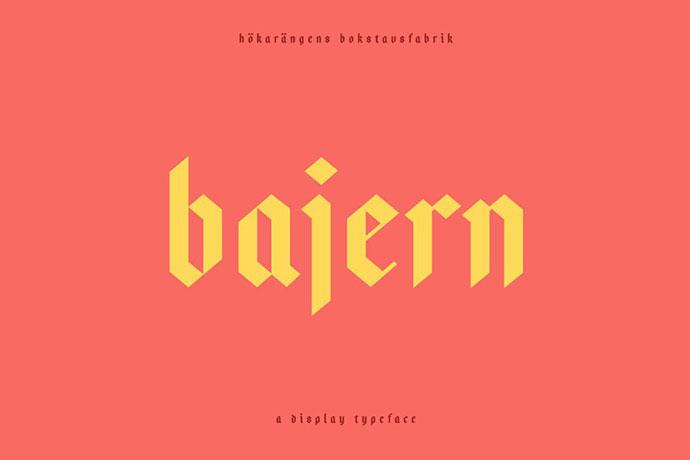 Bajern — A modern fraktur
