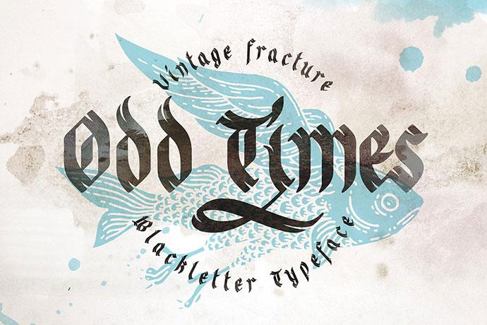 Odd times typeface + bonus graphics