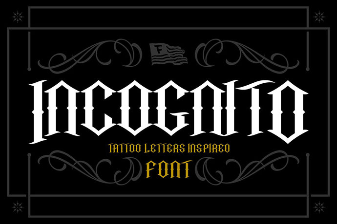 Incognito Tattoo Font