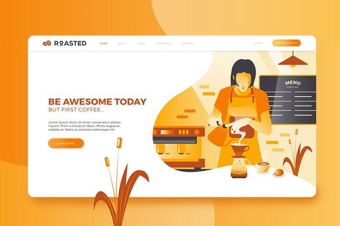 Coffee Shop Web Header