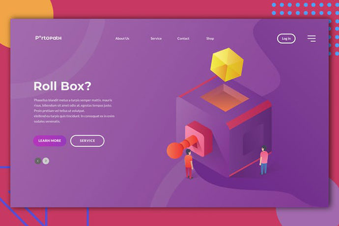 Roll Box Web Header Illustration