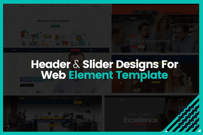 Header & Slider Designs For Web Element Template