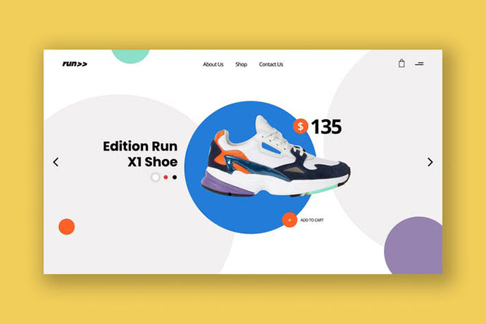 Casual Footwear Ecommerce Hero Header Template
