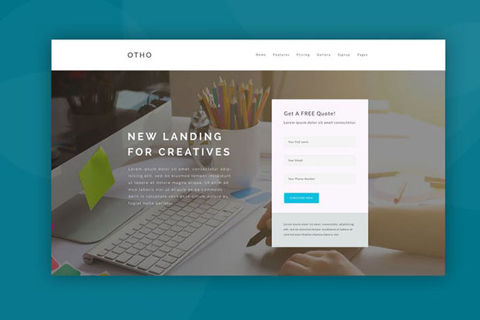 Web Hero Header Template