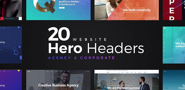 21 Awesome PSD Hero Image Illustration Templates