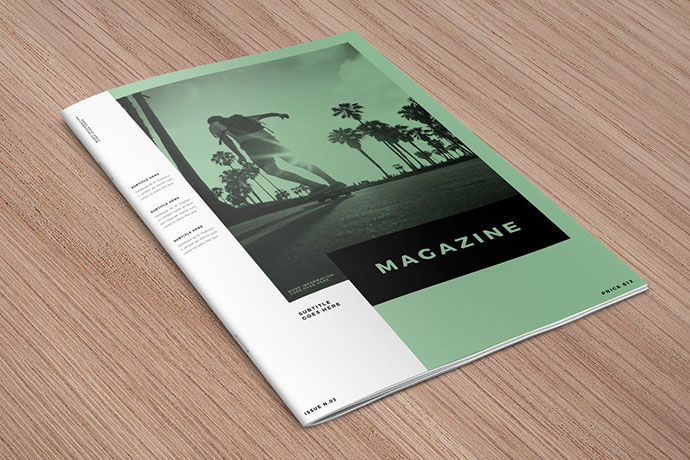 Minimal White Simple Magazine