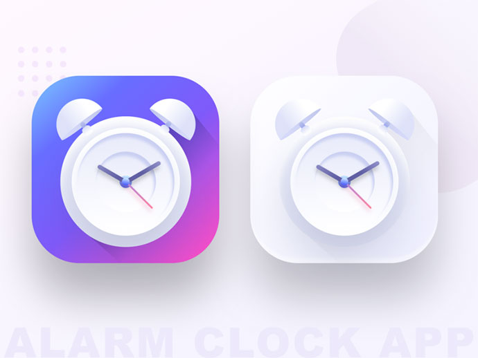 Alarm clock app icons