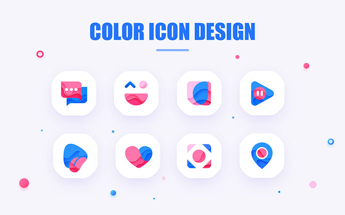 color icon design, lovely logo, Monogram, mark, brand, app gif