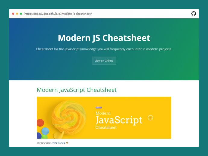 Modern JS Cheatsheet