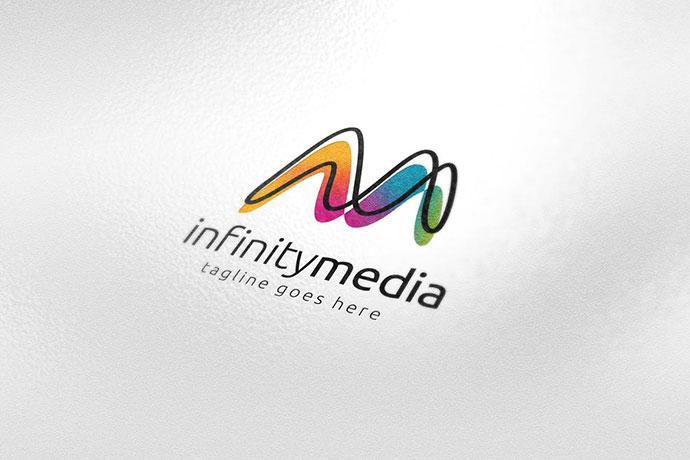 Infinity Media Letter M Logo