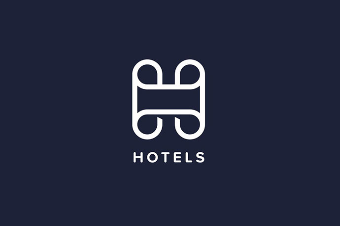 Hotels H Letter Logo Template