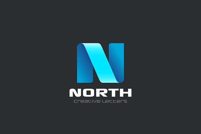 Logo Letter N Ribbon style