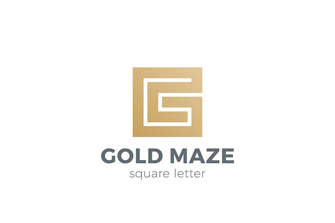 Logo Labyrinth Maze as Letter G