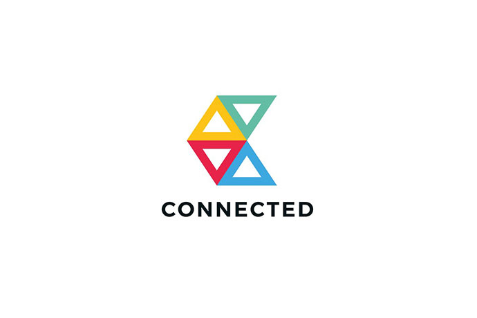 Connected C Letter Logo Template