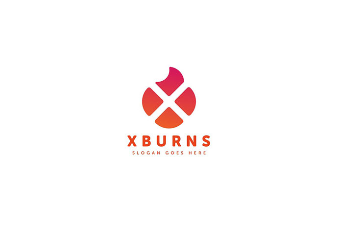 X Burns Logo Letter Template