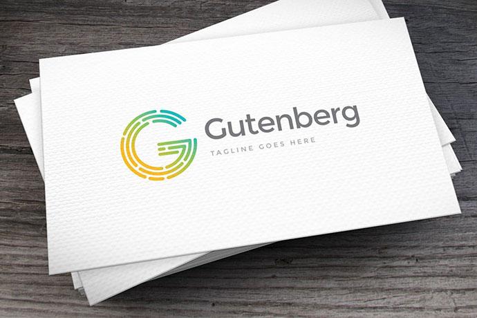 Gutenberg Letter G Logo Template