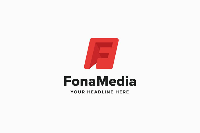 Fona Media F Leter Logo Template