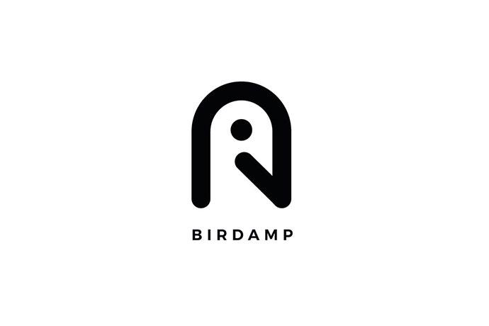 Birdamp Logo A Letter Template