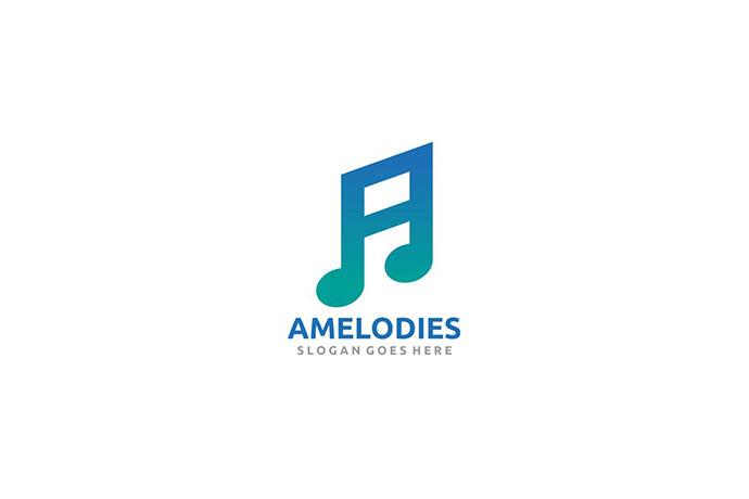 A Letter Music Logo