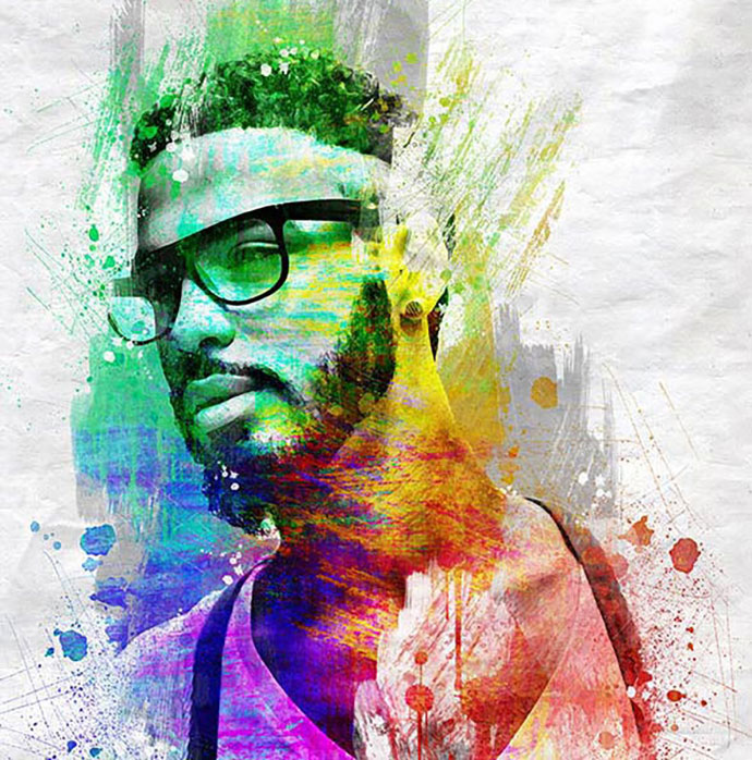 20 Beautiful Splatter Painting Effect Photoshop Actions