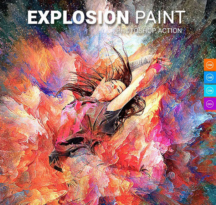 Explosion Paint Photoshop Action
