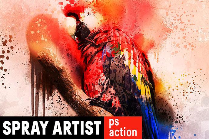 Spray Artist Photoshop Action