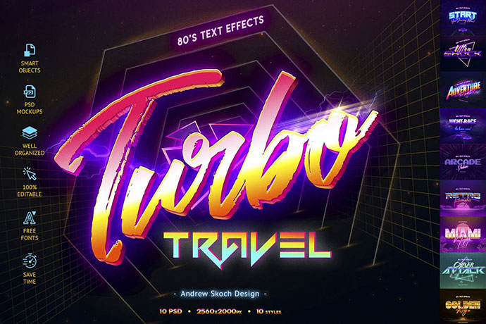 80's Retro Text Effects vol.2