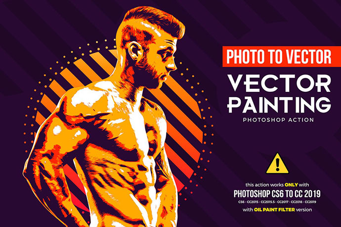 Vector Painting CS6 & CC+ Photoshop Action